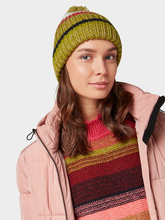 Beanie with bobble - Women - wood green - 5 - TOM TAILOR