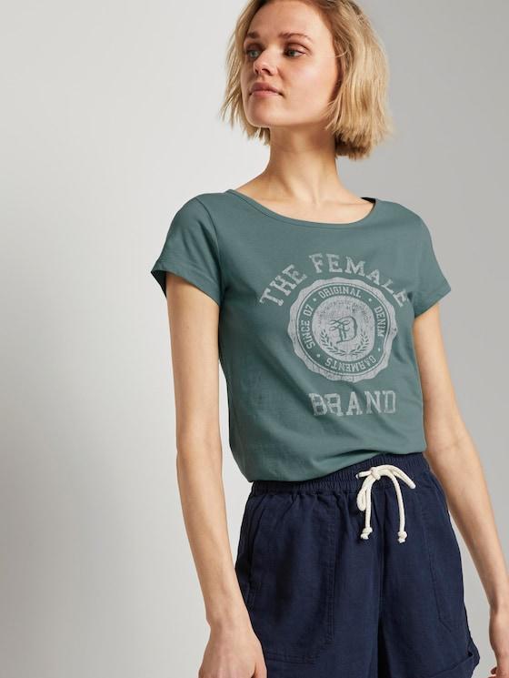 T-Shirt aus Bio-Baumwolle - Frauen - Mineral Stone Blue - 5 - TOM TAILOR Denim