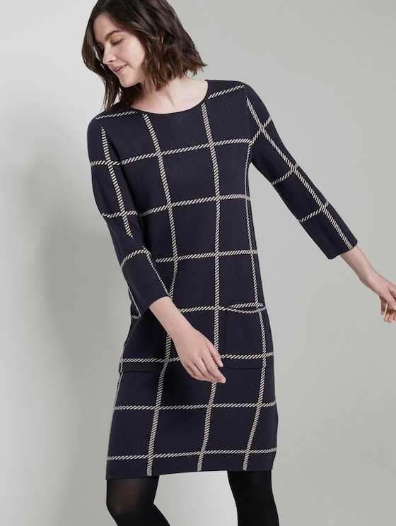 Plaid Jurk - Vrouwen - navy big grid check - 5 - TOM TAILOR