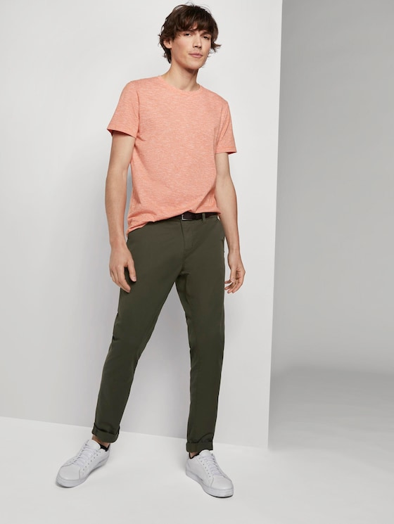 Simple Chino trousers - Men - Woodland Green - 3 - TOM TAILOR Denim