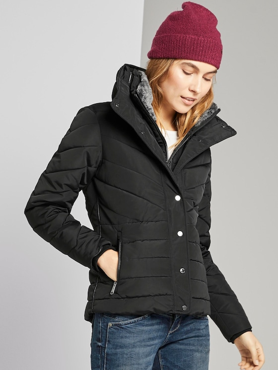 Feminine Pufferjacke - Frauen - Deep Black - 5 - TOM TAILOR