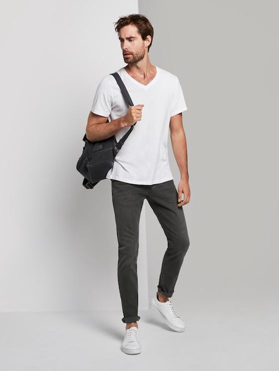 Troy slim jeans - Mannen - clean dark stone grey denim - 3 - TOM TAILOR