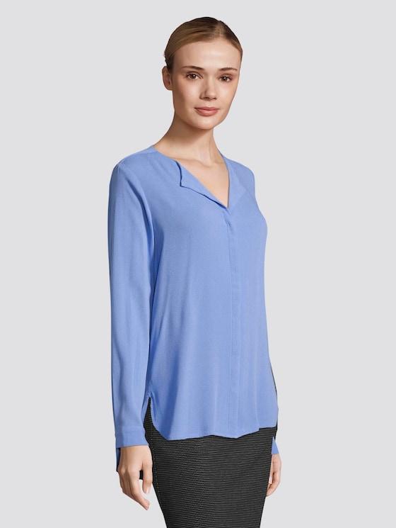Crepe-Bluse - Frauen - sicilian blue - 5 - TOM TAILOR