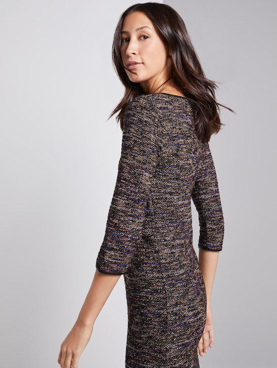 Boucle dress - Women - black mutlicolor boucle - 5 - TOM TAILOR
