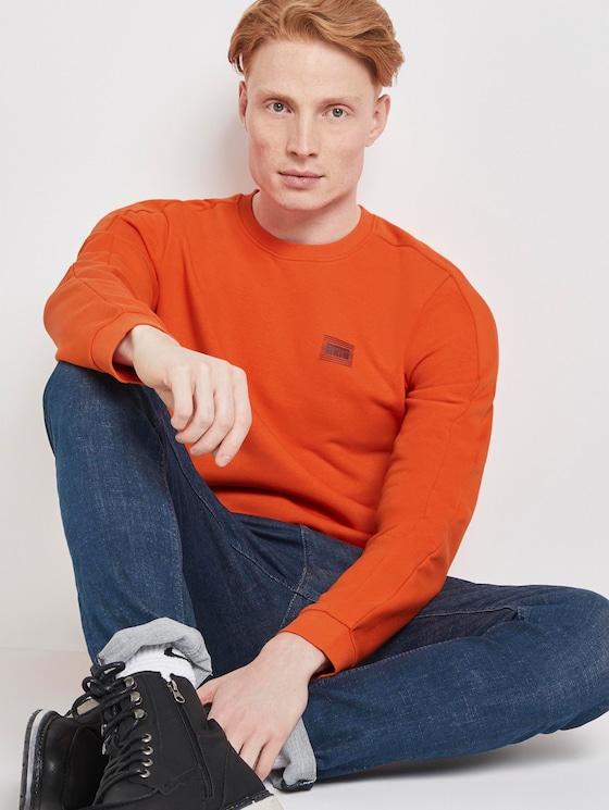 Sweatshirt with print - Men - fever red - 5 - TOM TAILOR Denim