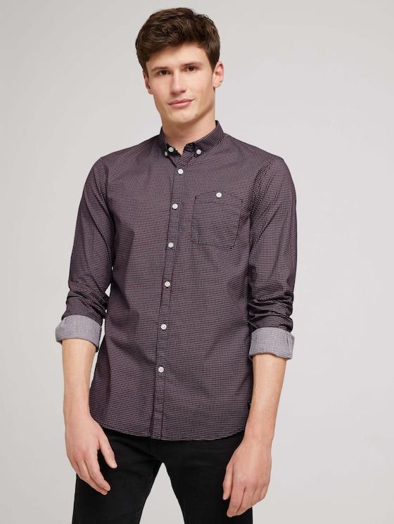 Overhemd met allover print - Mannen - navy rhombus print - 5 - TOM TAILOR Denim