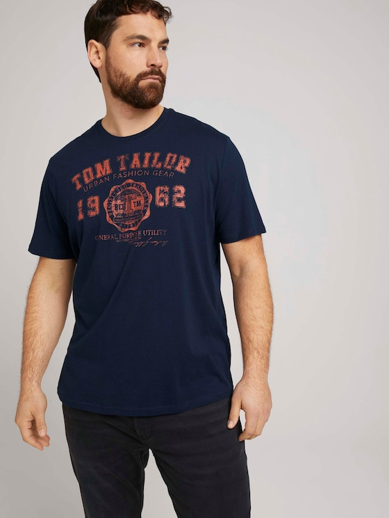 T-Shirt mit Logo-Print - Männer - Dark Blue - 5 - Men Plus