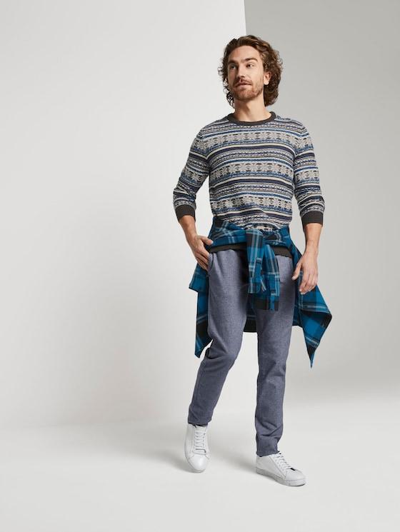 Travis Slim Hose - Männer - mid blue wool look - 3 - TOM TAILOR