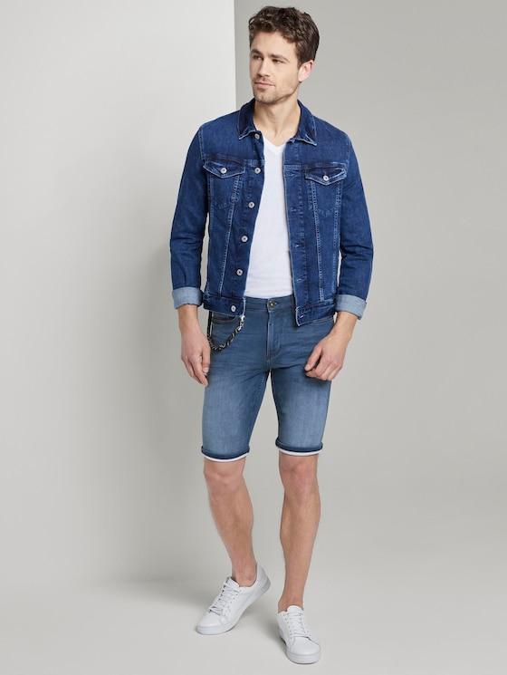 Sweat Jeans-Shorts - Männer - mid stone wash denim - 3 - TOM TAILOR