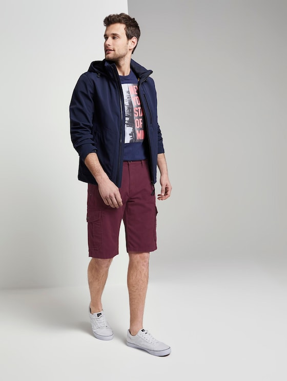 Morris Relaxed Bermuda Cargo-Shorts - Männer - bordeaux red - 3 - TOM TAILOR