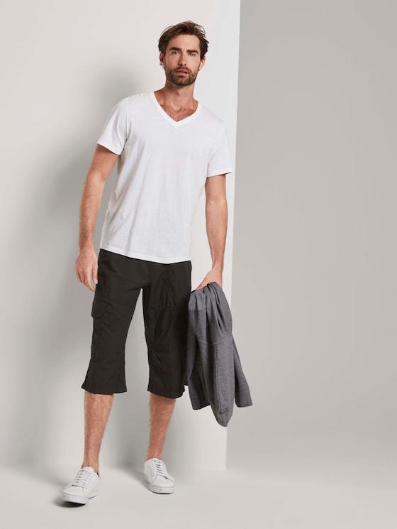 Cargo Bermuda-Shorts mit Gürtel - Männer - Phanton Dark Grey - 3 - TOM TAILOR