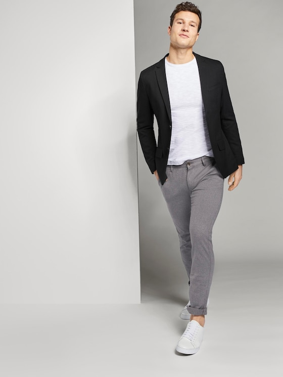 Travis Slim Chino Hose - Männer - mid grey grindle - 3 - TOM TAILOR