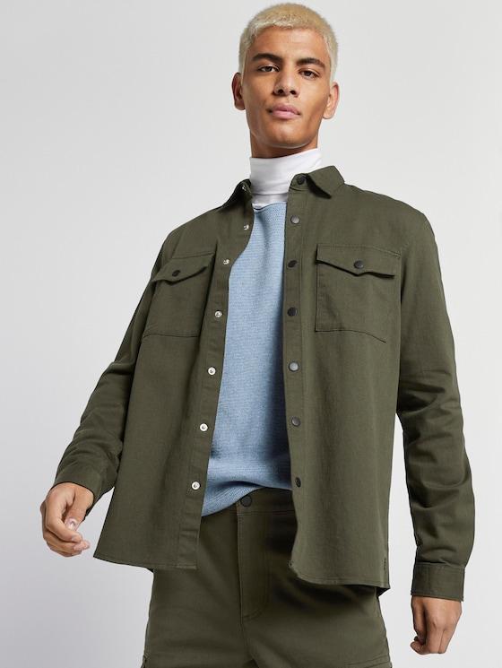 schlichtes Hemd - Männer - Woodland Green - 5 - TOM TAILOR Denim