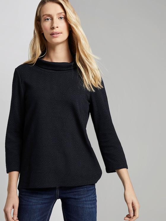 Sweatshirt mit 3/4 Ärmeln - Frauen - Sky Captain Blue - 5 - TOM TAILOR