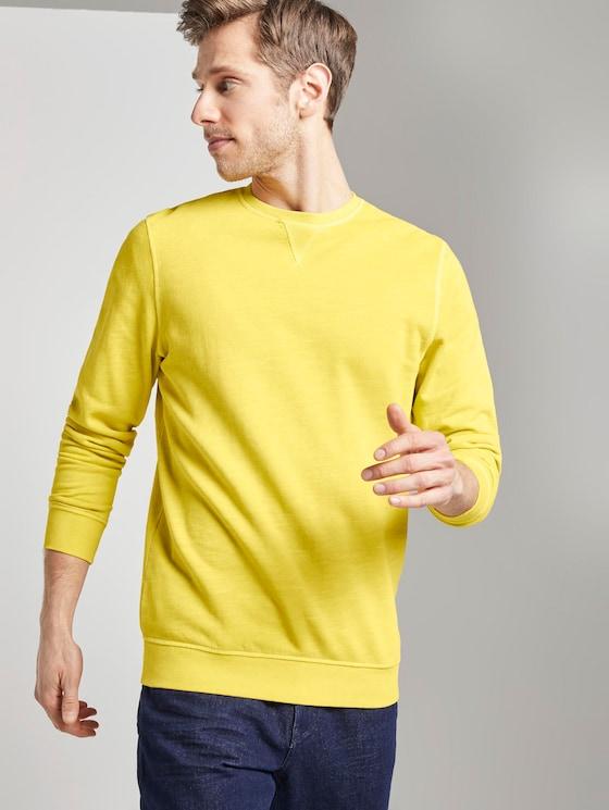 schlichtes Sweatshirt - Männer - Californian Yellow - 5 - TOM TAILOR