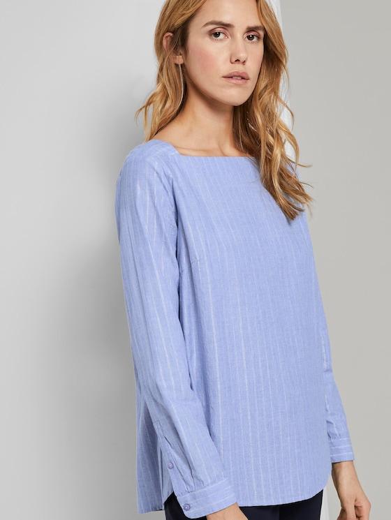 Bluse mit Glitzerfäden - Frauen - Kentucky Blue - 5 - TOM TAILOR