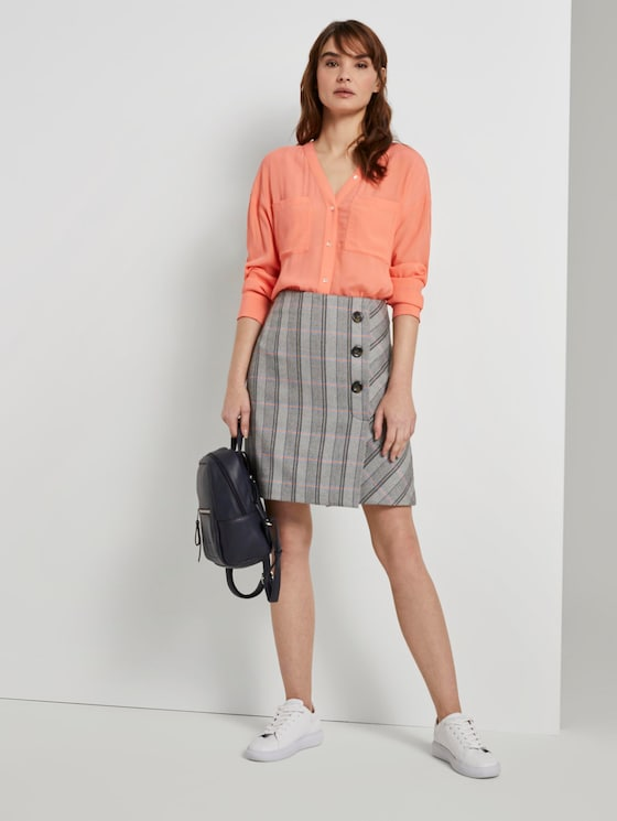 karierter Rock - Frauen - colorful herringbone - 3 - TOM TAILOR