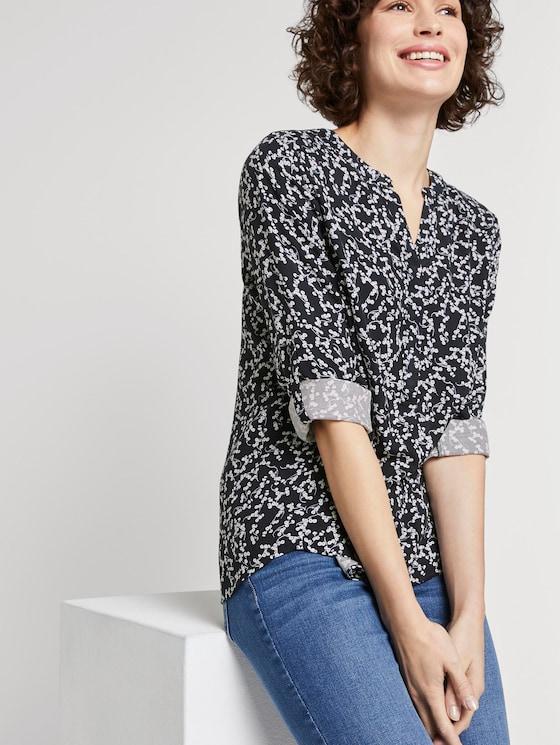 Bluse mit Blumenmuster - Frauen - navy flowery design - 5 - TOM TAILOR