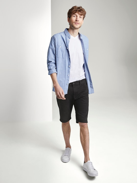Josh Regular Slim Jeans-Shorts mit Superstretch - Männer - black stone wash denim - 3 - TOM TAILOR