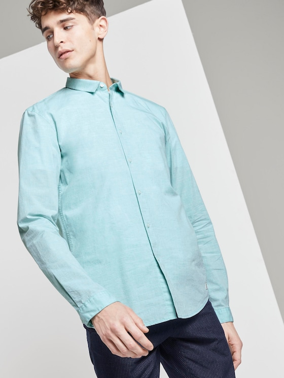 Mélange shirt - Men - spearmint green - 5 - TOM TAILOR Denim