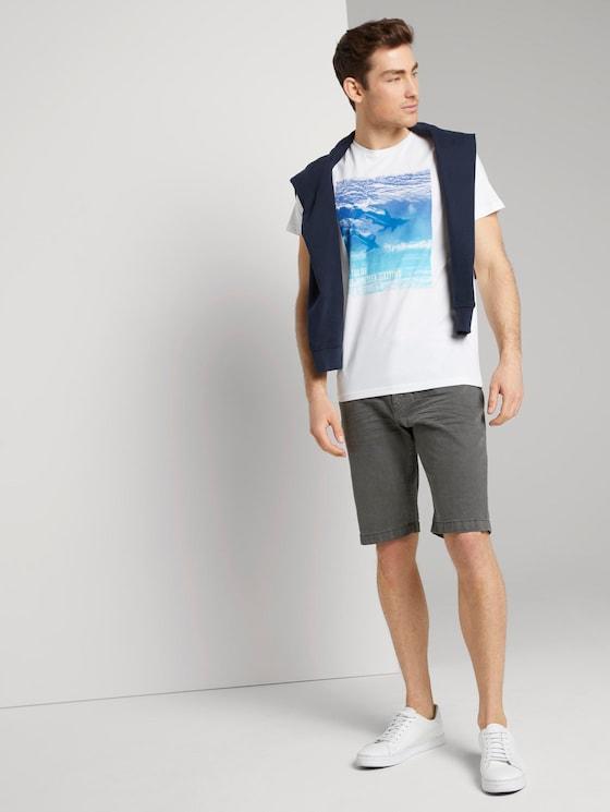 Josh Regular Slim Jeans-Shorts mit Gürtel - Männer - Tarmac Grey - 3 - TOM TAILOR