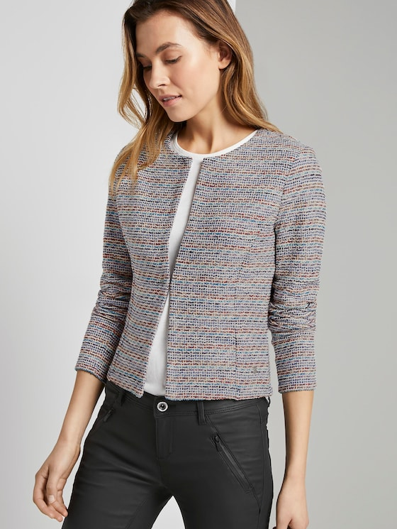 Blazer in Boucle-Optik - Frauen - multicolor boucle - 5 - TOM TAILOR