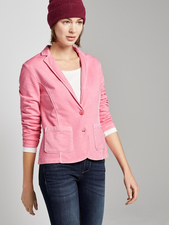 Sweat blazer with a colour wash - Women - antique blush pink - 5 - TOM TAILOR