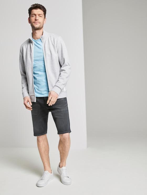 Josh Regular Slim Jeans-Bermuda-Shorts - Männer - clean dark stone black denim - 3 - TOM TAILOR