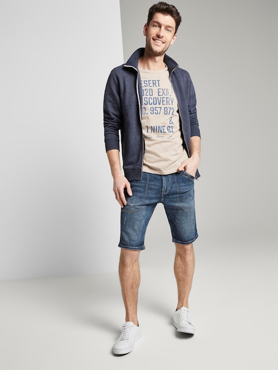 Josh Regular Slim Jeans-Bermuda-Shorts - Männer - mid stone wash denim - 3 - TOM TAILOR
