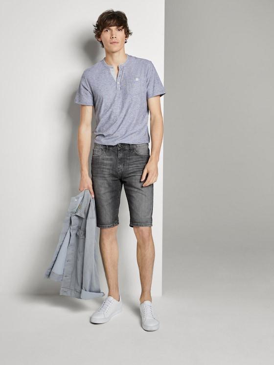 Josh Regular Slim Jeans-Shorts in Vintage-Waschung - Männer - grey denim - 3 - TOM TAILOR