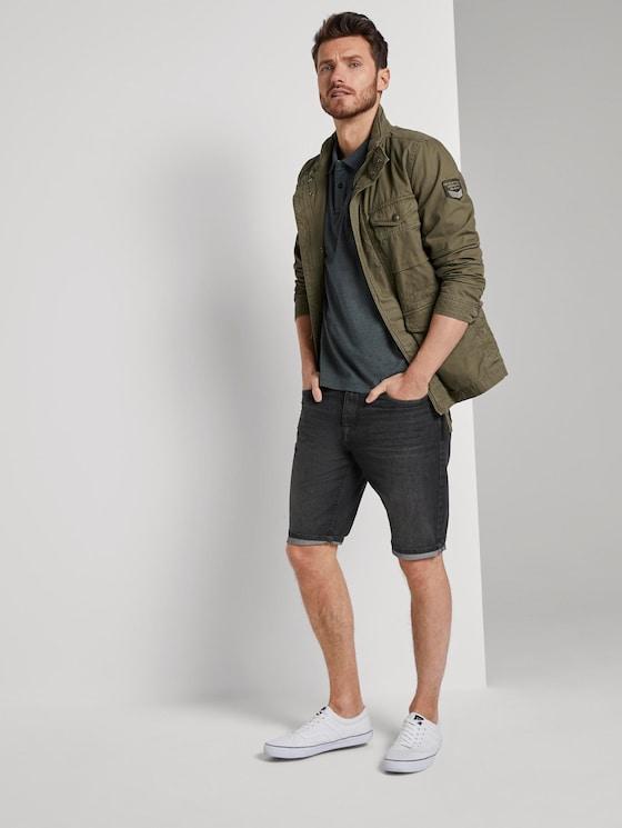 Josh Regular Slim Jeans-Shorts in Vintage-Waschung - Männer - black stone wash denim - 3 - TOM TAILOR