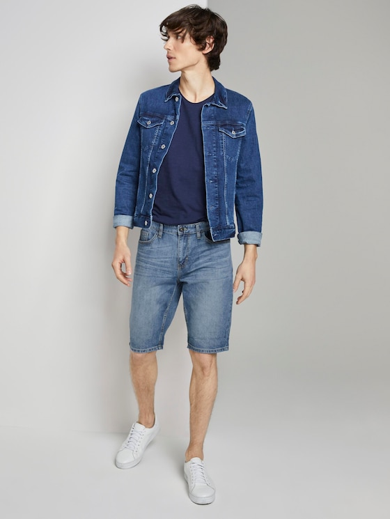 Josh Regular Slim Jeans-Shorts in Vintage-Waschung - Männer - light stone wash denim - 3 - TOM TAILOR