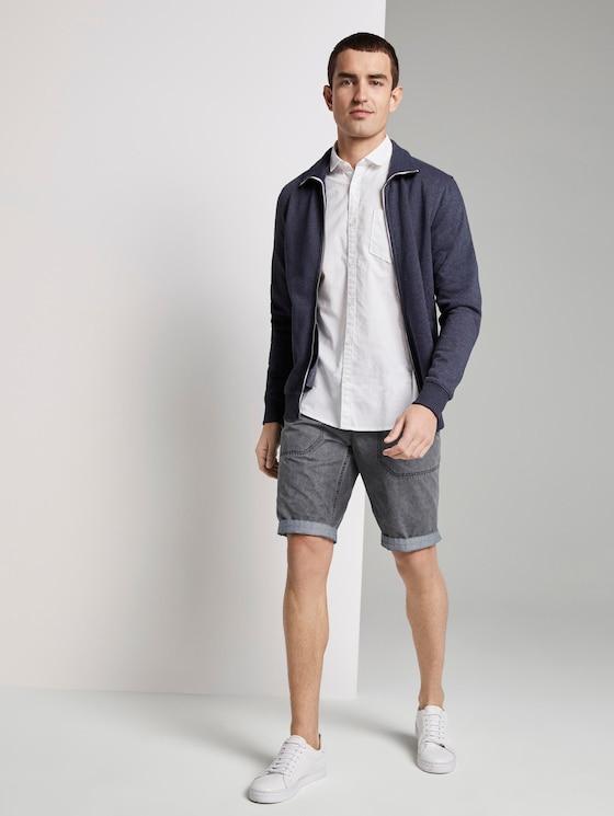 Josh Regular Slim Shorts - Männer - Blue Grey - 3 - TOM TAILOR
