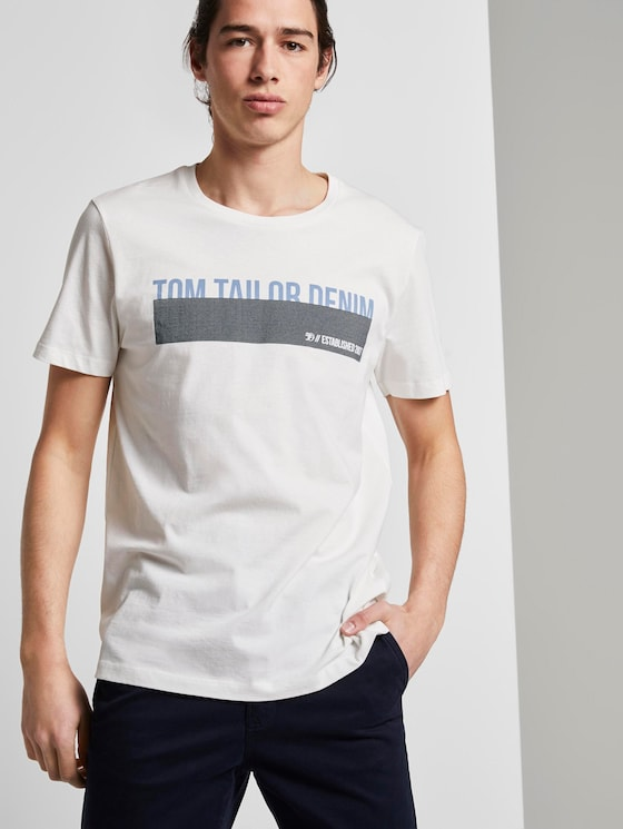 T-Shirt mit Print - Männer - Blanc De Blanc White - 5 - TOM TAILOR Denim