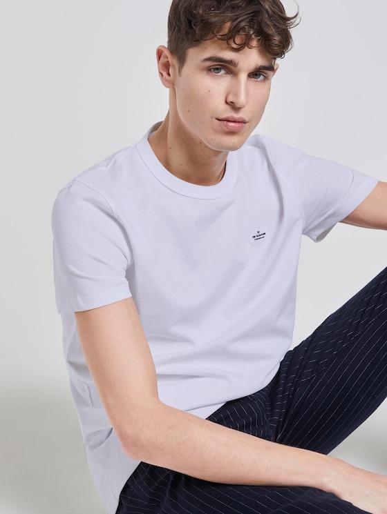 Schlichtes T-Shirt - Männer - White - 5 - TOM TAILOR Denim