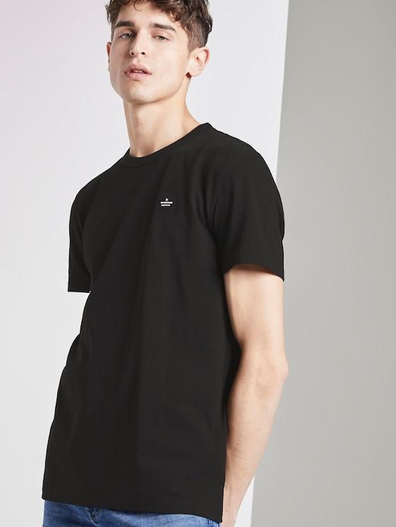 Schlichtes T-Shirt - Männer - Black - 5 - TOM TAILOR Denim