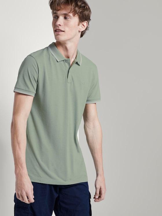 Strukturiertes Poloshirt - Männer - Dusty Leave Green - 5 - TOM TAILOR Denim