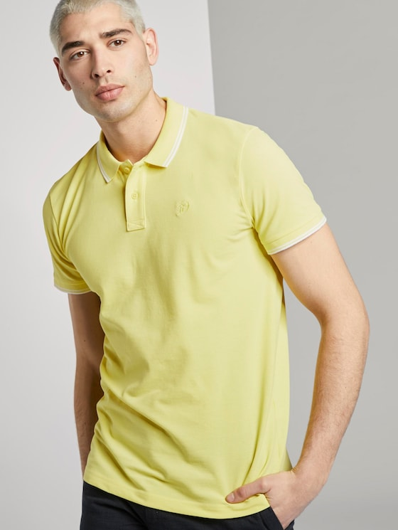 Strukturiertes Poloshirt - Männer - canary light - 5 - TOM TAILOR Denim