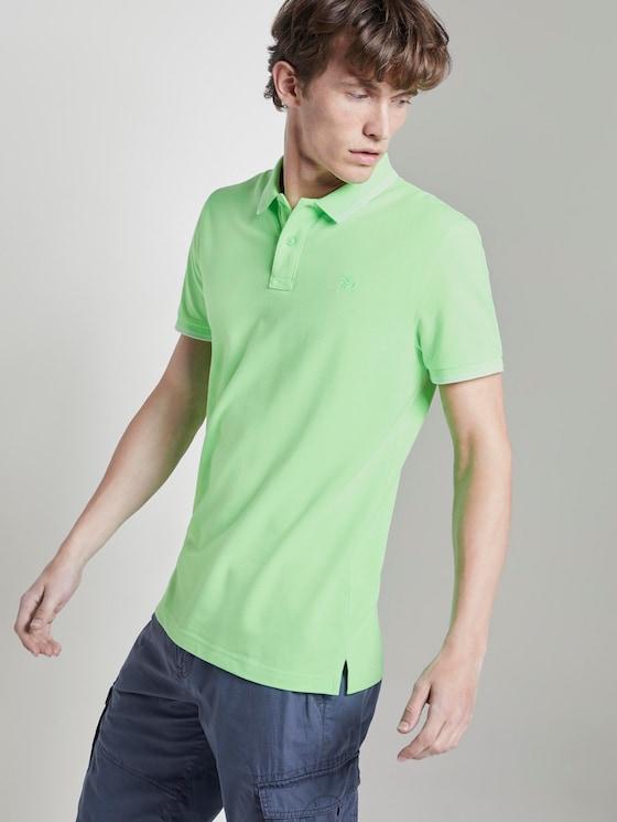 Strukturiertes Poloshirt - Männer - lime green - 5 - TOM TAILOR Denim