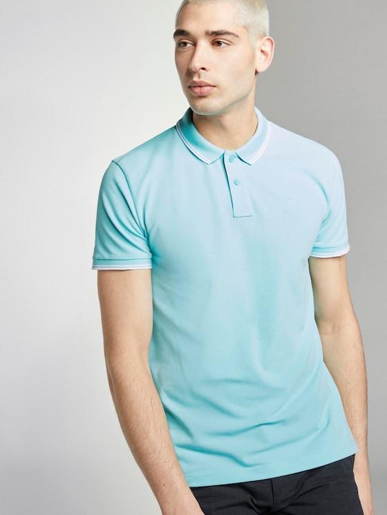 Strukturiertes Poloshirt - Männer - soft blue sky - 5 - TOM TAILOR Denim