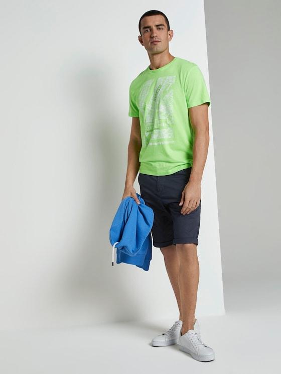 Josh Regular Slim Chino-Shorts - Männer - Sky Captain Blue - 3 - TOM TAILOR