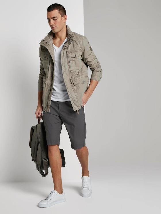 Josh Regular Slim Chino-Shorts - Männer - Tarmac Grey - 3 - TOM TAILOR