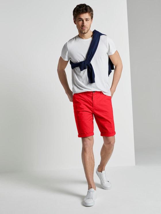 Josh Regular Slim Chino-Shorts - Männer - brilliant red - 3 - TOM TAILOR