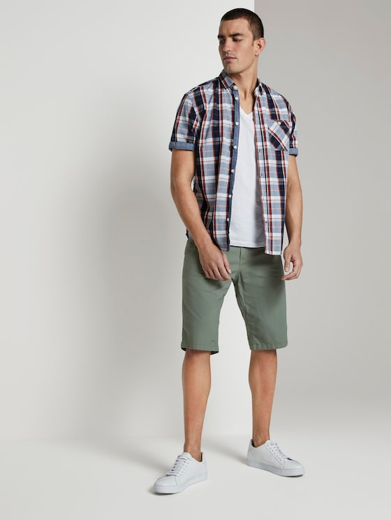 Josh Regular Slim Chino-Shorts - Männer - Pale Green - 3 - TOM TAILOR