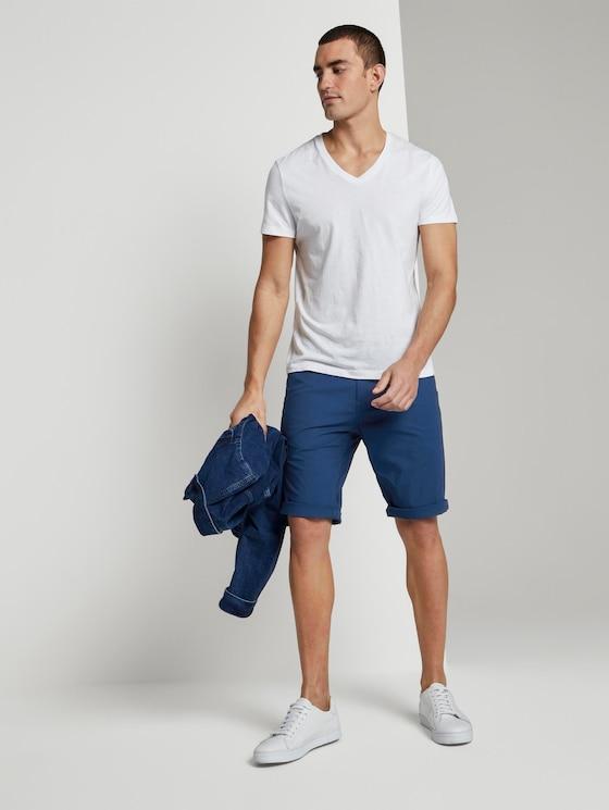 Josh Regular Slim Chino-Shorts - Männer - after dark blue - 3 - TOM TAILOR