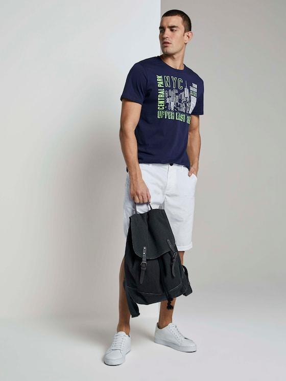 Josh Regular Slim Chino-Shorts - Männer - White - 3 - TOM TAILOR