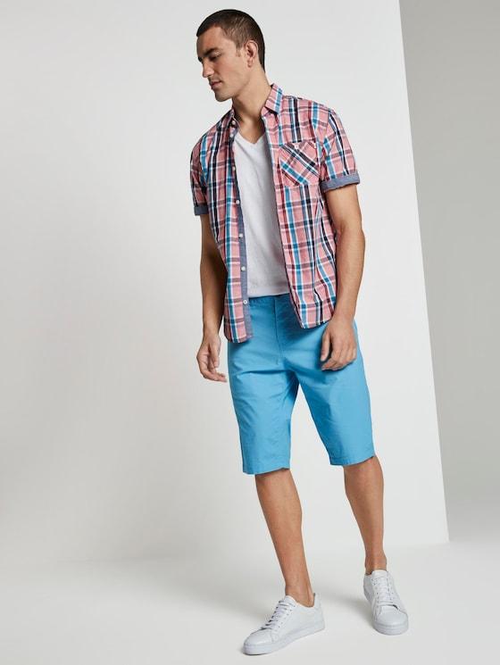 Josh Regular Slim Chino-Shorts - Männer - soft cloud blue - 3 - TOM TAILOR