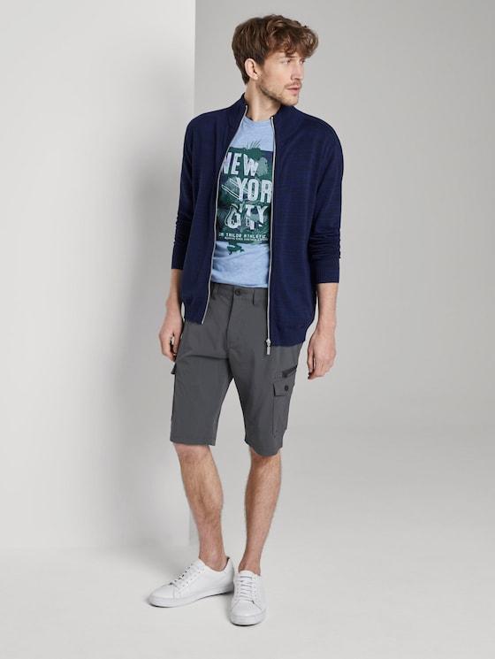 Funktionale Josh Regular Slim Cargo-Shorts - Männer - Phanton Dark Grey - 3 - TOM TAILOR