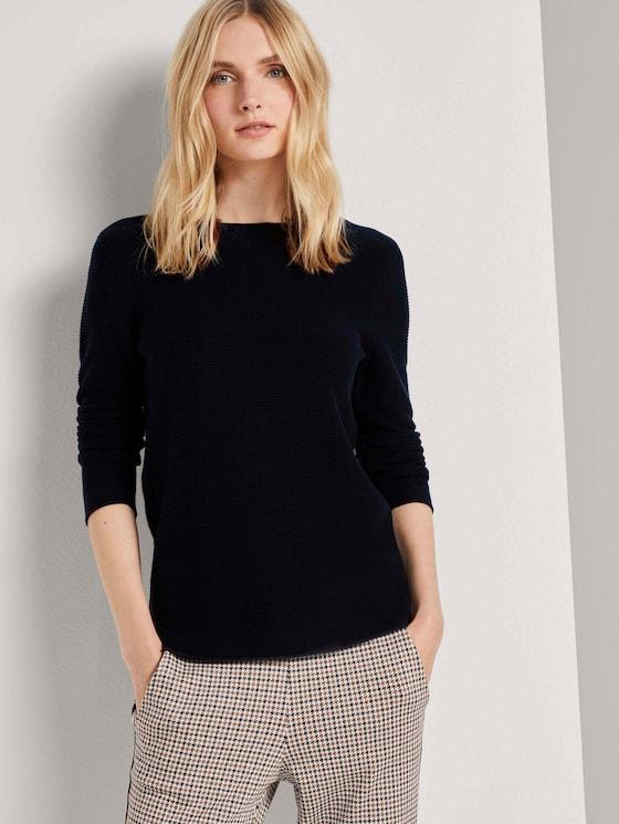 simple sweatshirt - Women - Night Sky Blue - 5 - TOM TAILOR