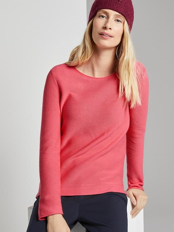 Strickpullover mit Rundhalsausschnitt - Frauen - charming pink - 5 - TOM TAILOR